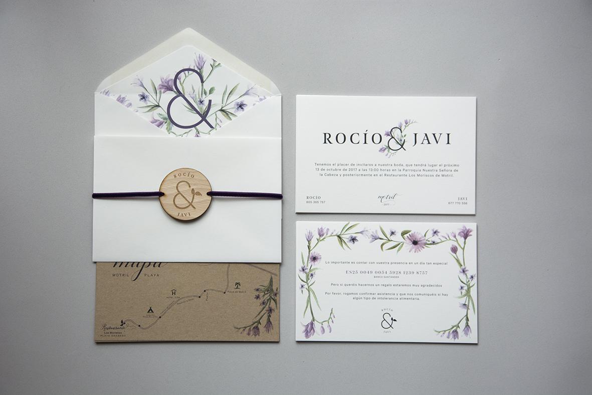 Invitaciones Con Diseño Floral Elegante Y Un Toque Rústico